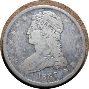 elf Bust Half Dollar 1837 Reeded Edge
