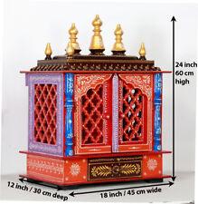 Home Mandir Pooja Ghar Mandapam for Worship Wooden Handcrafted Hindu Temple KI58