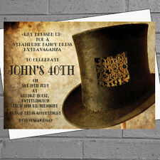 Steampunk Top Hat Patch 6.3x6.7cm