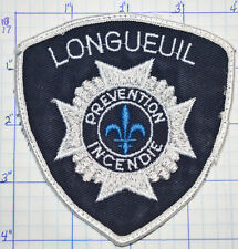 CANADA, LONGUEUIL FIRE PREVENTION INCENDIE QUEBEC WHITE EDGE PATCH