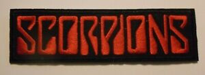 """Scorpions~Patch~Embroidered~5 1/4"""" x 1 1/2""""~Iron or Sew on~Heavy Metal Rock"""