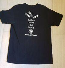 Mens Smith & Wesson Black T-shirt Size Large Bullets Make Me Happy