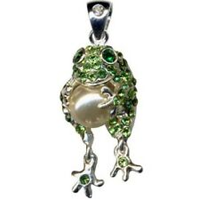 Ketten Anhänger Zirkonia Frosch Frog mit Perle