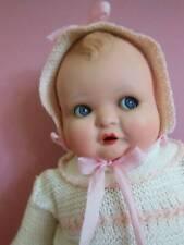 """Vintage German Flirty Eye Baby Doll Compo Head Cloth Body 22"""""""