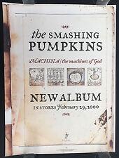 Smashing Pumpkins Machina original 1999 Virgin Records promo poster!