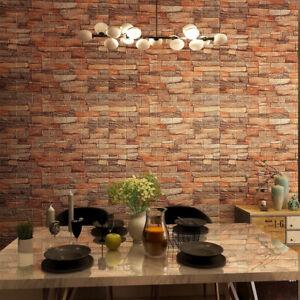 10/20PCS Tile Brick Wall Sticker Self-Adhesive 3D Foam Panel Wallpaper Art Decor
