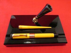 Parker Duofold Mandarin Yellow, Pen and Desk Set...Restored
