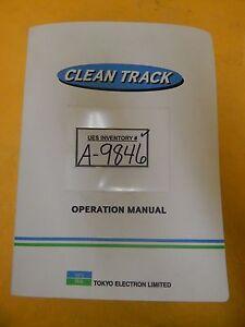 TEL Tokyo Electron OEM Operation Manual Set Clean Track Lithius Used