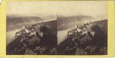Allemagne Bord du Rhin Château Sterrenberg Stereo Vintage albumine ca 1860