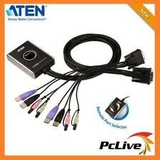 NEW Aten CS-682 2 Port USB 2.0 DVI KVM Switch with Remote Port Selector Audio