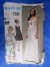 "Vintage sewing pattern 1960s Evening dress 34"" bust SIMPLICITY DESIGNER 7951"