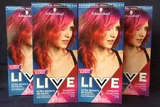 4 x SCHWARZKOPF Ultra Brights LIVE SUNBURST 110 SEMI PERMANENT HAIR COLOUR DYE