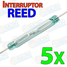 5x Interruptor Reed switch magnetico abierto NO open 14x2 lengueta cristal glass