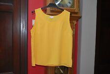 Top T-shirt basique jaune sans manches Taille 46 pour l'été Très Bon Etat!
