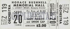 GARY PUCKETT & THE UNION GAP 1968 YOUNG GIRL TOUR UNUSED HARTFORD TICKET / NMT