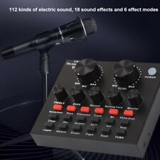 USB Headset Mic Webcast Live Audio Sound Card External Box for Phone Computer PC