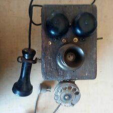 Telefono a manovella e cornetta adattato con combinatore 1925 ca. 30 x 14 cm (A3