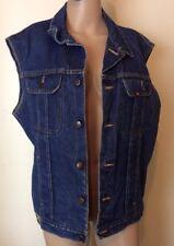 Vintage Womens Denim Vest Jacket Size 10-12