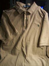 POLO by RALPH LAUREN Light Brown Short Sleeve Polo/Golf Shirt Sz 3XL 3XLT TALL