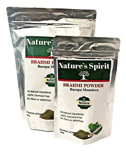 Brahmi Powder Bacopa monnieri Hair Body Mind 100% Pure Premium Grade