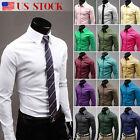 Luxury Men Stylish Casual Long Sleeve Shirt Slim Fit T-Shirts Formal Dress Shirt
