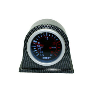 2in 52mm Carbon Fiber Cover Car Digital White/Red PSI Turbo Boost Gauge Meter