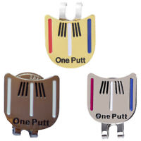 Magnetic cap clip removable metal golf one putt aiming ball marker set T9J6 D2M
