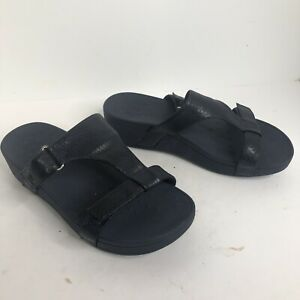 Vionic Ellie Women's Slide Sandals Size 10 wide blue shoes comfort slides