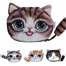 Small Cute Cat Coin Bag Purse Zero Wallet with Zipper For Change Purse