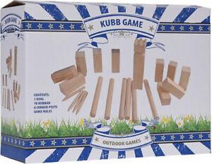 Kubb Wikingerspiel Schach ECHTHOLZ Holzspiel Small Wurfspiel Outdoor 2.Wahl