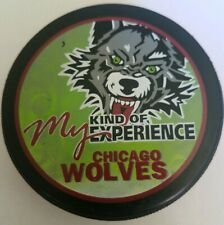 Chicago Wolves My Kind Of Experience Official Lindsay Mfg. Canada Hockey Puck