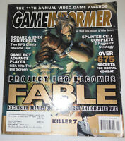 Gameinformer Magazine Fable & Splinter Cell No.117 091814R