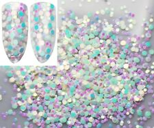 USA IRIDESCENT RAINBOW DOTS 1 2mm and 3mm Glitter Mix Nail Art Face Acrylic Gel
