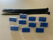 10 Stück Schilderhalter Schild Heizung Sanitär Halter Beschriftung Rohrleitung