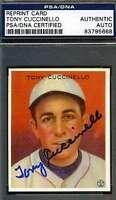 Tony Cuccinello Psa/dna Signed 1933 Goudey Reprint Authentic Autograph
