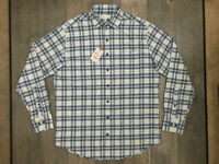 Peter Millar Crown Sport Long Sleeve Button Shirt Mens Large Blue Plaid NWT $149
