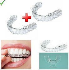 4Pcs Orthodontic Retainer Teeth Whitening Grinding Tray Corrector Appliance Tool