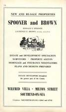 1968 Spooner And Brown Wilfred Villa Southend-On-Sea Estate Agents Ad