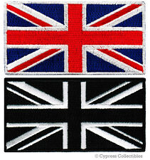 LOT TWO UK FLAGS EMBROIDERED PATCHES iron-on GREAT BRITAIN BRITISH UNION JACK