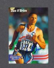 Dan O'Brien signed Starting Lineup Timeless Legends Olympic trading card
