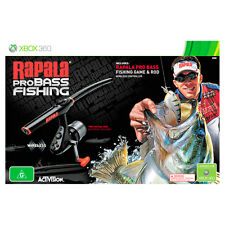 Rapala Pro Bass Fishing Rod Bundle Xbox 360 Game Aus PAL *brand