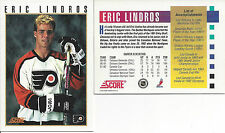 1992 -93 SCORE ERIC LINDROS Press Conference. PROMO Card * Best Price on Ebay