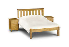 BARCELONA SOLID PINE BED FRAME IN SINGLE DOUBLE KINGSIZE LOW OR HIGH FOOT END