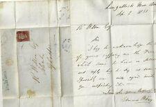 1851 commercial St sub po sur Newport mon lettre à R Wilson Gloucester re ferme