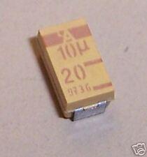 CAPACITOR TANTALUM  10UF 20V 10% SMD (SET OF 5)