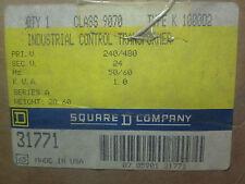* SQUARE D KVA 1.0 INDUST'L CONTROL TRANSFORMER TYPE K 1000D2 CLASS 9070   WL-66