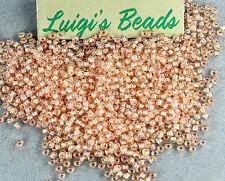 11/0 Round Toho Japan Seed Beads Rainbow #794-Rainbow Crystal/Apricot Lined 10g