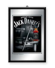 Framed Bar Mirror - JACK DANIELS Billiards / Pool Logo 20x30cm in box Eight Ball