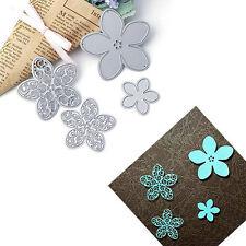 4 Flowers Metal Cutting Dies Stencil Scrapbook DIY Album Embossing Card Craft