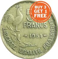 50 FRENCH FRANCS 1950 TO 1958 CHOICE OF YEAR WITH MINT MARKS